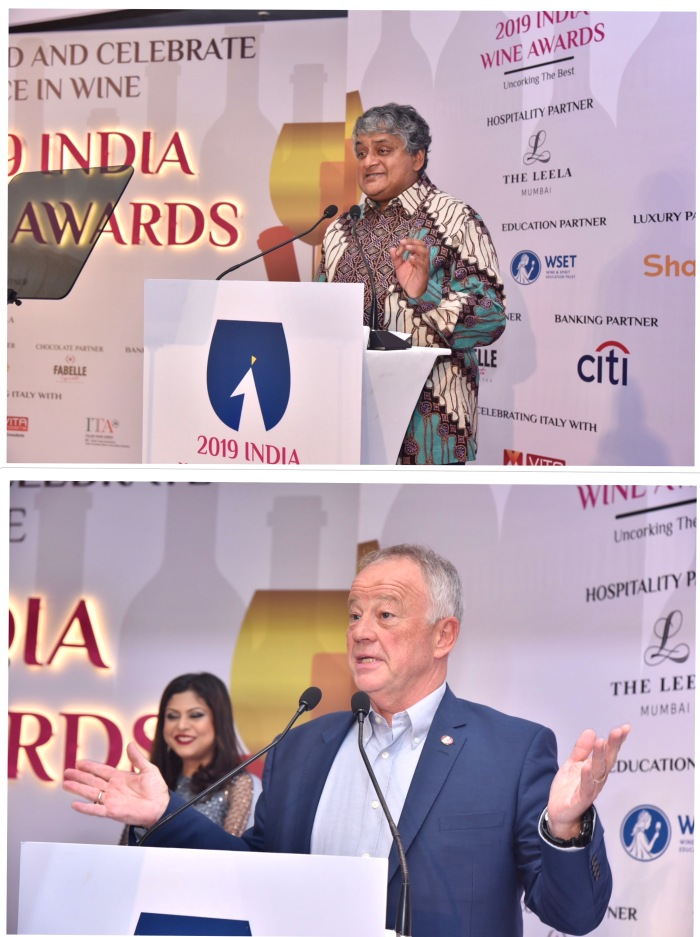 Ravi Viswanathan, Chairman Grover Zampa Vineyards and Ian Harris MBE, CEO WSET at IWA 2019