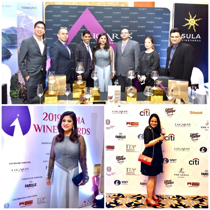 Sonal Holland MW with Team Lucaris Crystal, the official glassware partner for India Wine Awards 2019. Bottom Right in the picture is Apurva Gawande, Head of Operations IWA 2019.