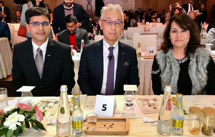 With Shinji Fukuyo, Chief Blender Suntory & Neeraj Kumar, MD India Beam Suntory at the India launch of Yamazaki Distiller's Reserve Single Malt & Hibiki Japanese Harmony Whisky